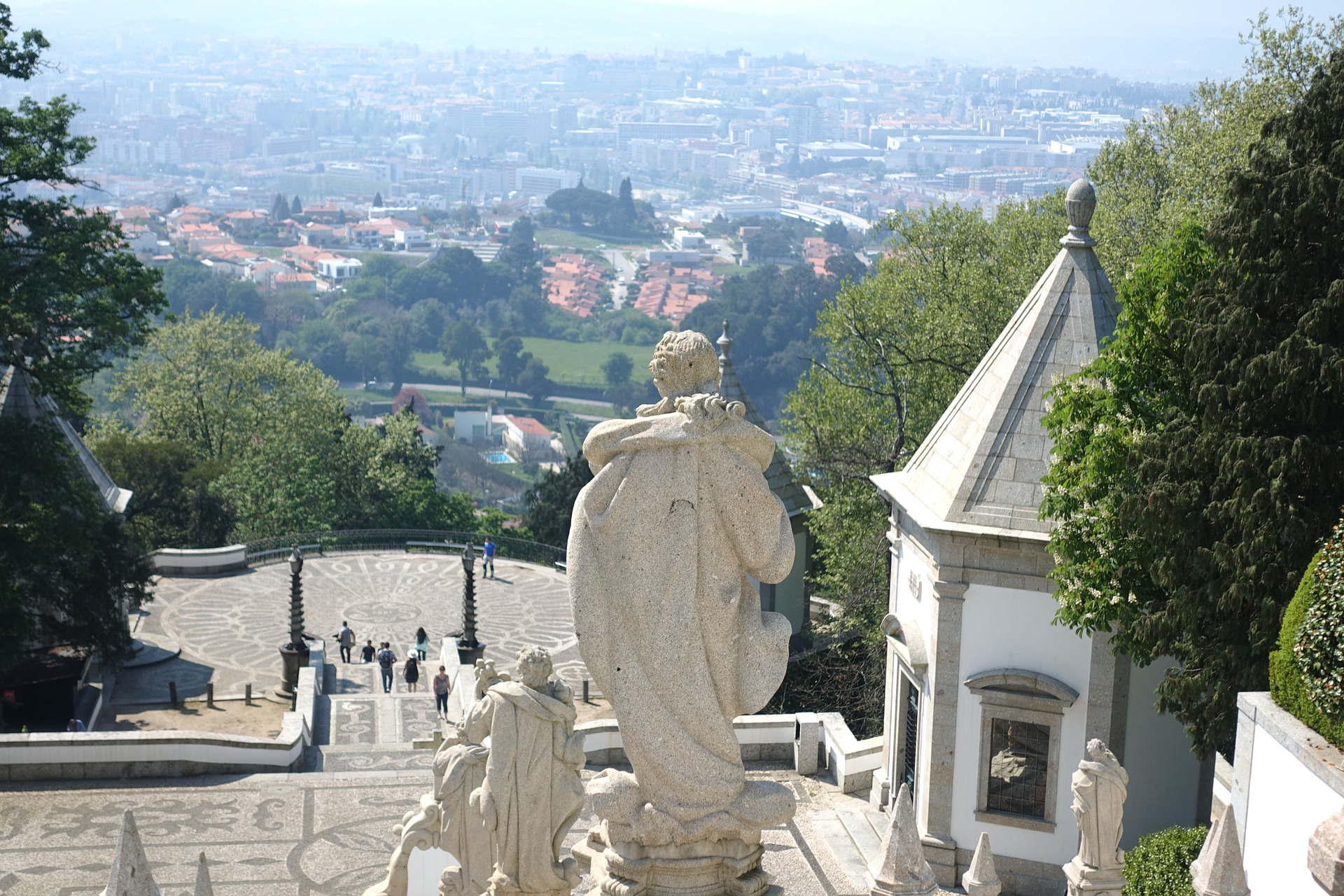 A view of Braga from Bom Jesus do Monte