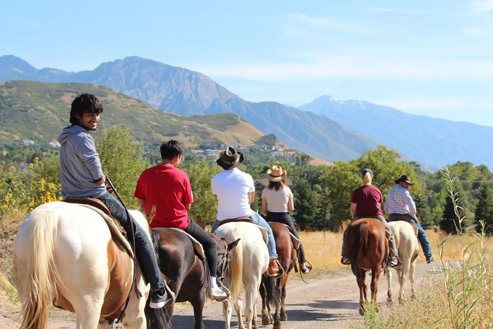 ELI students on a horseback ride in the American West